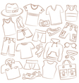 summer menwear and accessories vector image vector image