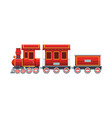 train toy cartoon vector image vector image