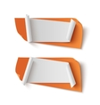 Two orange abstract blank banners vector image vector image
