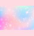 unicorn background with rainbow mesh vector image vector image