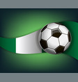 with soccer ball and flag of nigeria vector image vector image