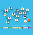 world map with people avatars vector image vector image