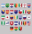 flags world set national symbol international vector image