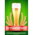 Octoberfest beer poster vector image