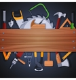 Carpentry tools background vector image