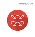 traditional venetian festive carnival icon party vector image