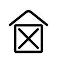 home sign symbol of house outline modern design vector image