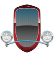 1930s style hot rod car grill with headlights vector image