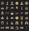adult games icons set simple style vector image vector image