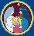 Baby Jesus in a manger vector image vector image