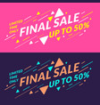 best sale banner original poster for discount vector image vector image