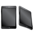 black digital tablet vector image