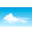 blue sky with clouds panorama background vector image vector image