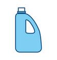bottle plastic object vector image vector image