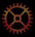 bright dot clock gear icon vector image vector image