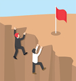 Businessman climb up the cliff vector image vector image