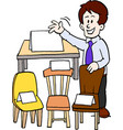 cartoon of a of a furniture seller vector image