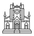 catholic temple icon outline style vector image vector image