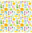 Cleaning tools sweamless pattern vector image vector image