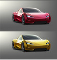 colored supercars vector image vector image