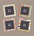 creative photo frames with art texture decorative vector image