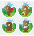 cute teddy bears collection vector image