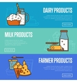 Dairy products horizontal website templates vector image vector image