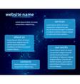 dark blue template of website vector image vector image