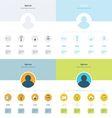 Design Timeline Infographic set vector image