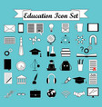 education icons science icons set vector image vector image