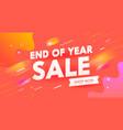 end year sale banner digital social media vector image vector image