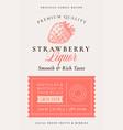 family recipe strawberry liquor acohol label vector image vector image