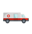 fast ambulance icon flat style vector image vector image