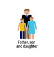 father son and daughter icon can be used for web vector image