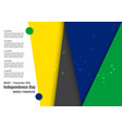 for brazil independence day on 7 september for vector image vector image