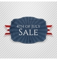Fourth of July Sale Holiday Tag vector image vector image