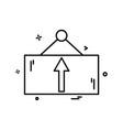 frame icon design vector image vector image