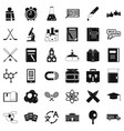 graduation icons set simple style vector image vector image