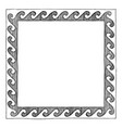 greek frame with wave vector image vector image