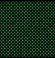 green seamless dot pattern background - graphic vector image vector image