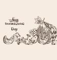 happy thanksgiving dinner menu line art fall vector image vector image