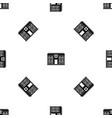 hospital pattern seamless black vector image vector image