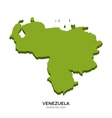 Isometric map of Venezuela detailed vector image vector image