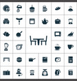 kitchen icons universal set for web and ui vector image