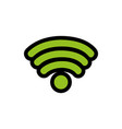 line color wifi symbol of digital internet vector image