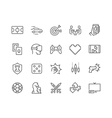 Line Games Icons vector image vector image