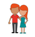 loving couple cartoon vector image