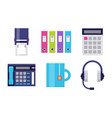 modern icons set for office vector image vector image
