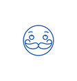moustache emoji line icon concept moustache emoji vector image vector image