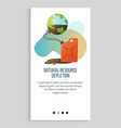 natural resource depletion planet and canister app vector image